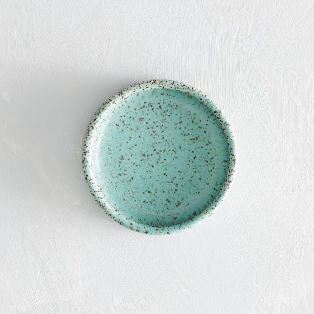 seafoam speckled salt dish