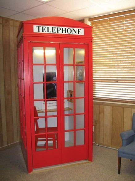 Red Bookshelf Superman Telephone Booth Diy British Booths Phone By Libraryman