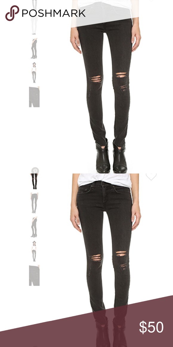 4c1533623504f Rag & Bone Skinny Stretchy Jeans Distressed with rips at knees Jeans are so  comfy with