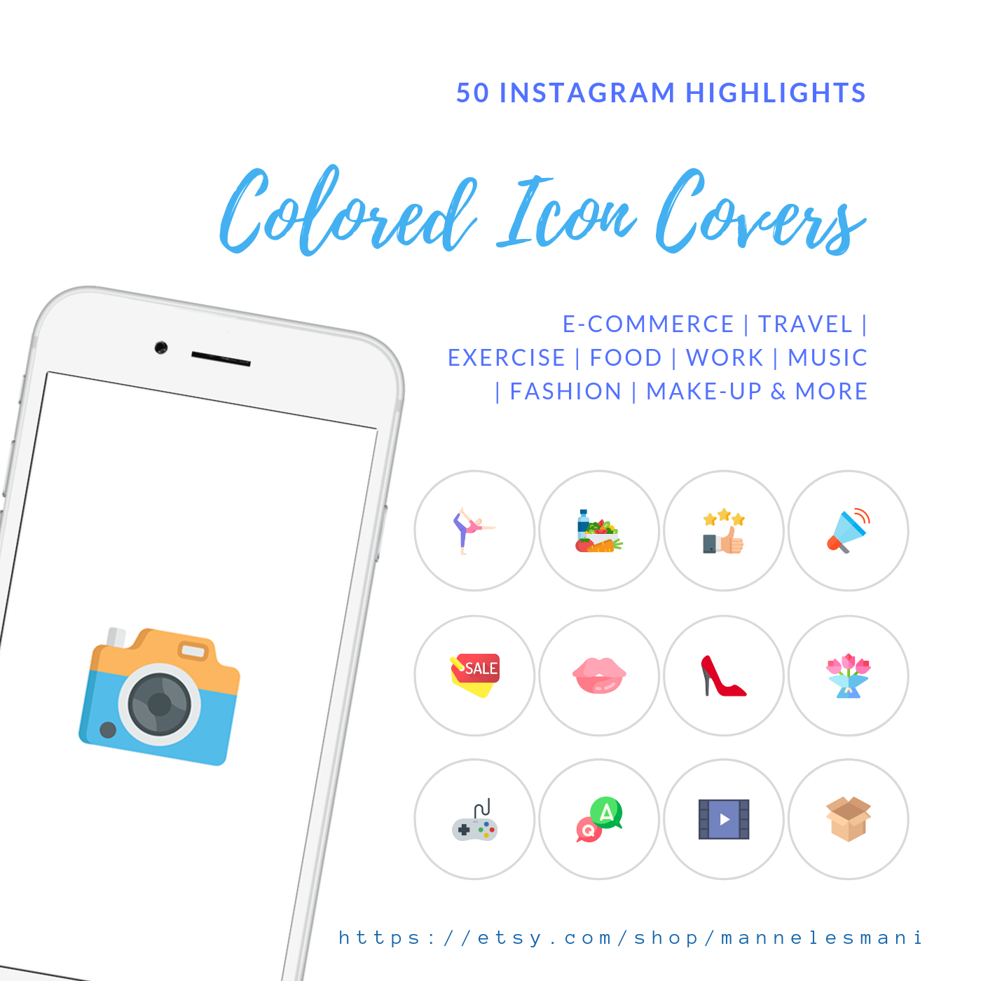 50 Colored Instagram Story Highlight Icons Instagram Etsy Story Highlights Instagram Highlight Icons Instagram Story