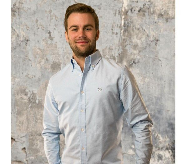Blue Oxford Button Down Sport Shirt