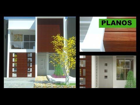 Planos casa moderna 2 pisos 6m x 12m villa del sol for Casa moderna 7x20