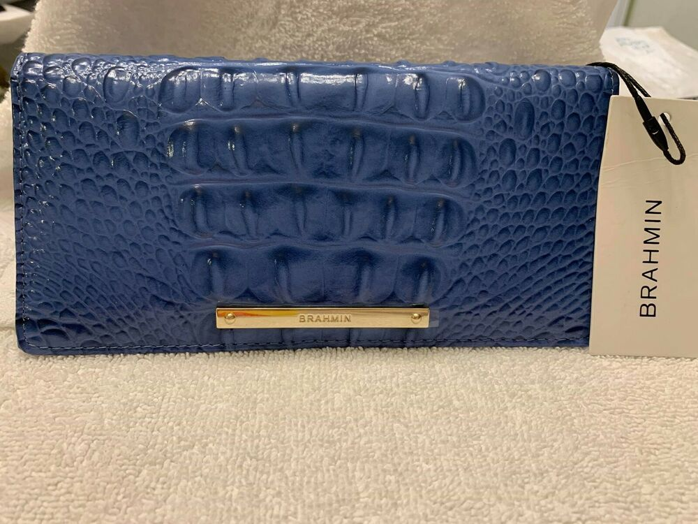 NWT Brahmin Leather Ady Wallet in Iris Melbourne (9K)