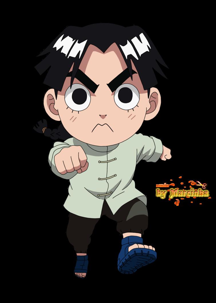 Render Chibi Lee By Marcinha20 Deviantart Com On Deviantart Chibi Anime Chibi Naruto Cute