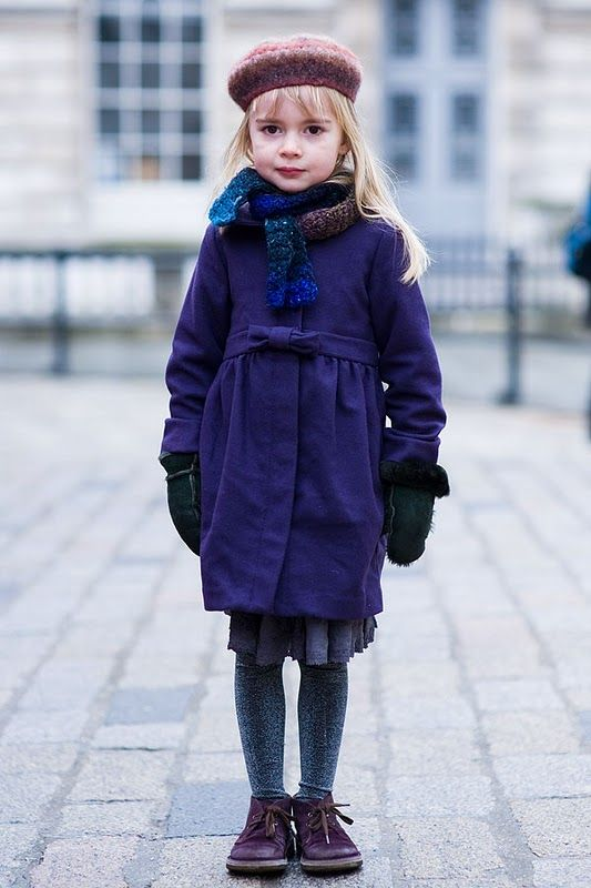Fashion forward little lass