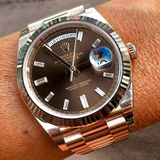 Happy Saturday with DAY DATE 40 Ref 228235 | http://ift.tt/2cBdL3X shares Rolex Watches collection #Get #men #rolex #watches #fashion