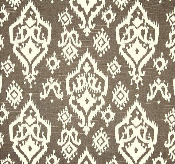 Attirant Brown U0026 Ivory Ikat Home Decor Fabric By The Yard, Designer Drapery Or  Upholstery Yardage