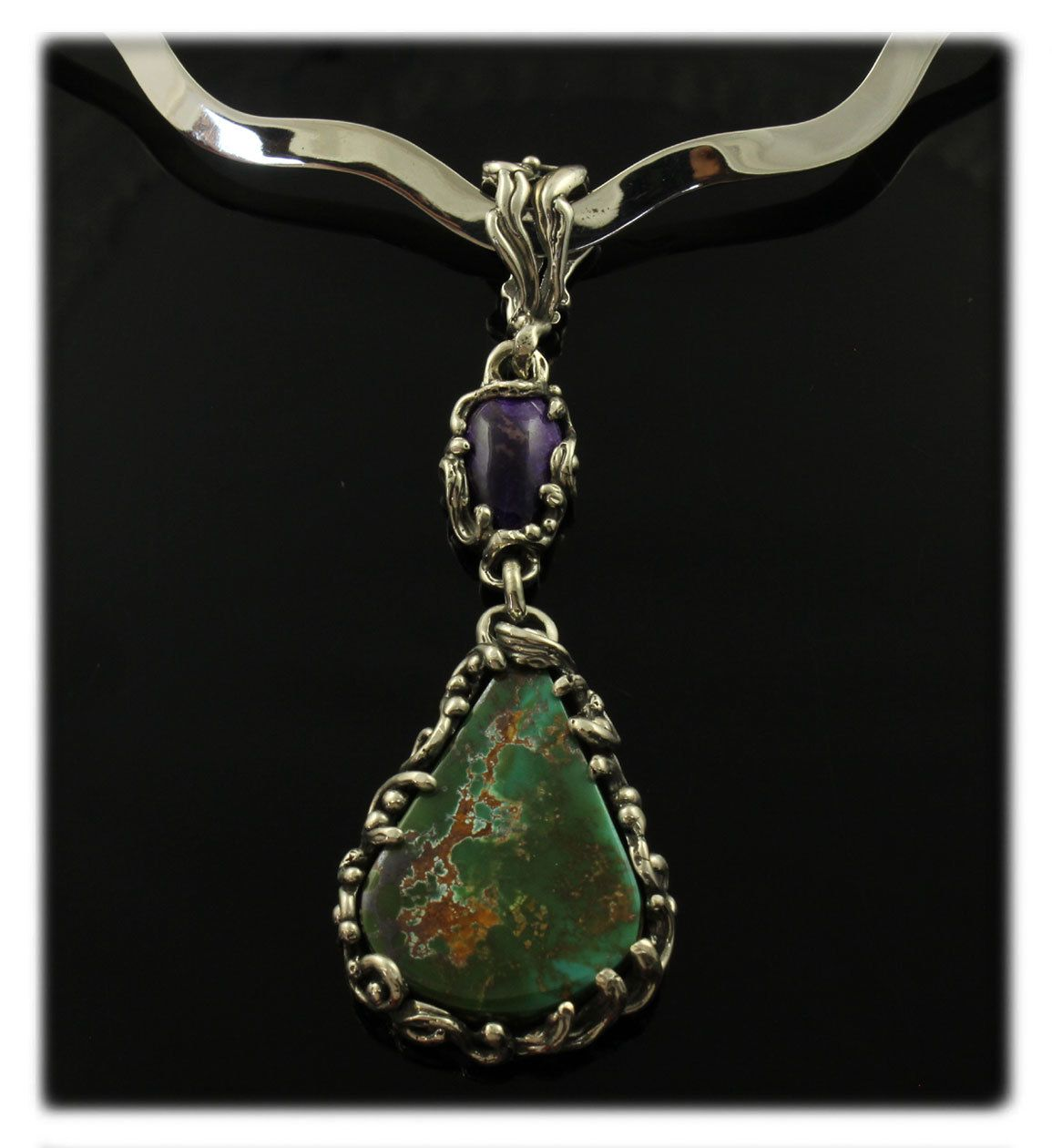 and silver tagged gemstone deux artisans pendants les artisan sterling collections pendant from sugilite