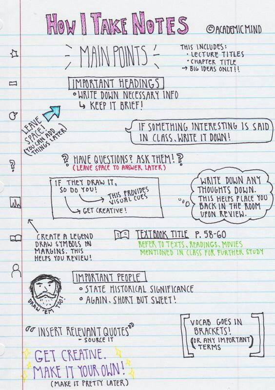 Note taking tips