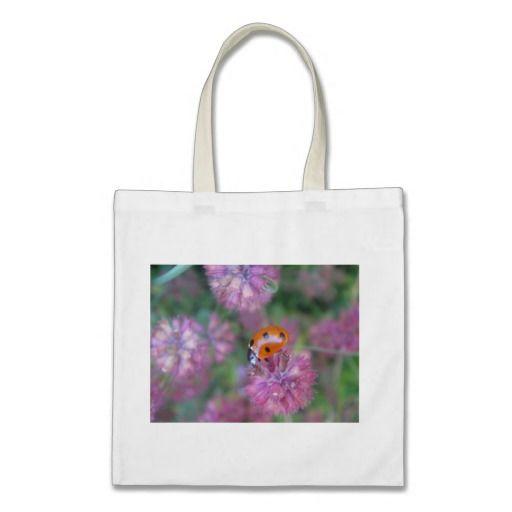 www.zazzle.com/fotosbykarin : Cotton bag ladybird a cute gift for kids
