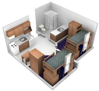 Housing Grand Valley State University Kitchen Bathroom Idea