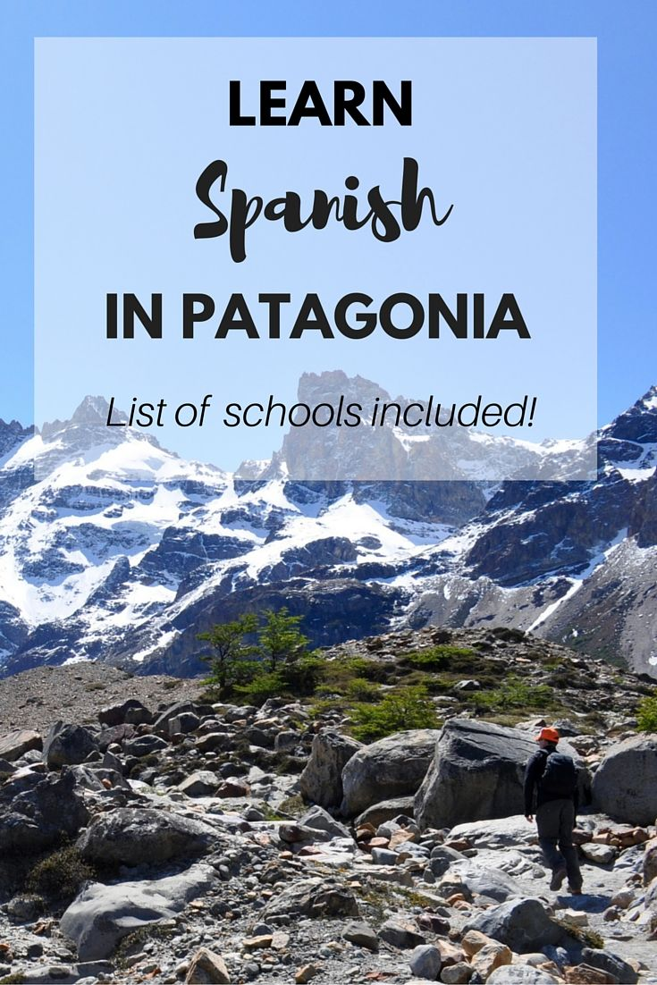 Learning a country's language has many benefits while travelling, and if you're thinking of spending some time in Patagonia what a perfect place to learn some Spanish in the most picturesque of surroundings.