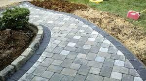Grey Block Paving Driveway With Border Google Search Front Garden Ideas Driveway Brick Walkway Brick Paver Patio
