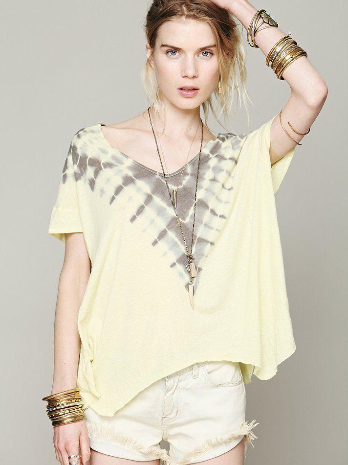 We The Free Shoreline Tee At Free People Clothing Boutique Shibori Fashion Gorgeous Clothes Clothes For Women
