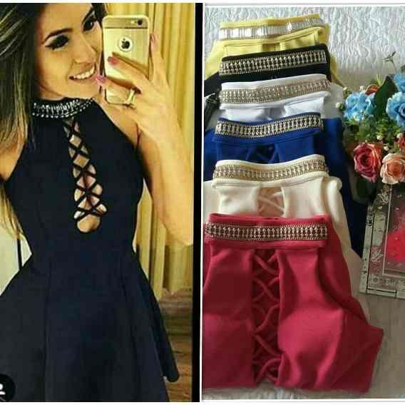 2fed0f4398 Vestidos Curtos Femininos no Mercado Livre Brasil