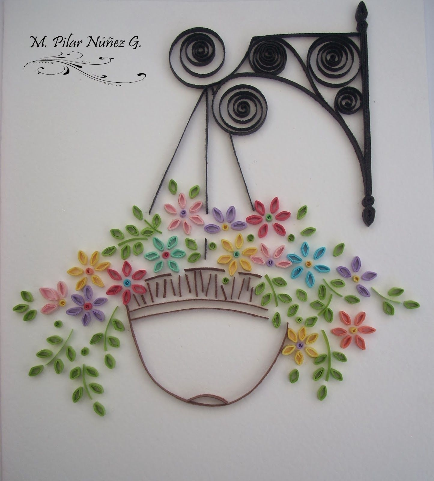 Crea Quilling : Potted flowers