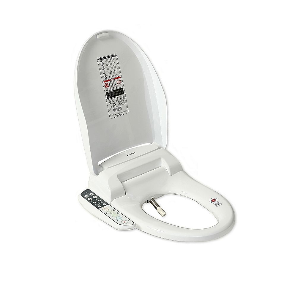 Smartbidet Electric Bidet Seat For Elongated Toilets In White