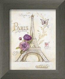 Eiffel Tower Roses Kunstdrucke von Angela Staehling - AllPosters.at