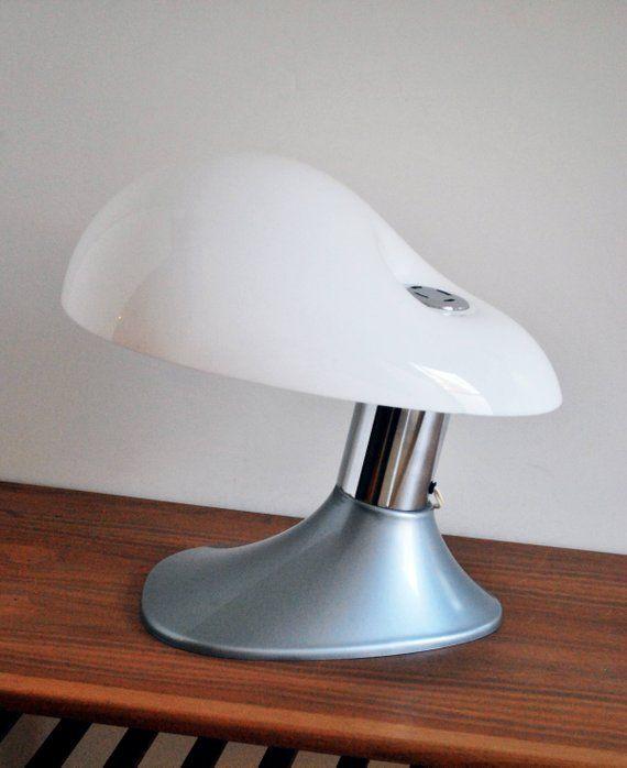 Mid Century Modern Italian 70s Space Age Vintage Plastic Etsy Table Lamp Art Glass Table Lamp Cube Table Lamp