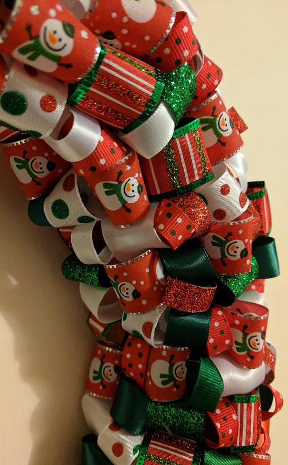 Christmas Ribbon Wreath in 2018 Products Pinterest Wreaths