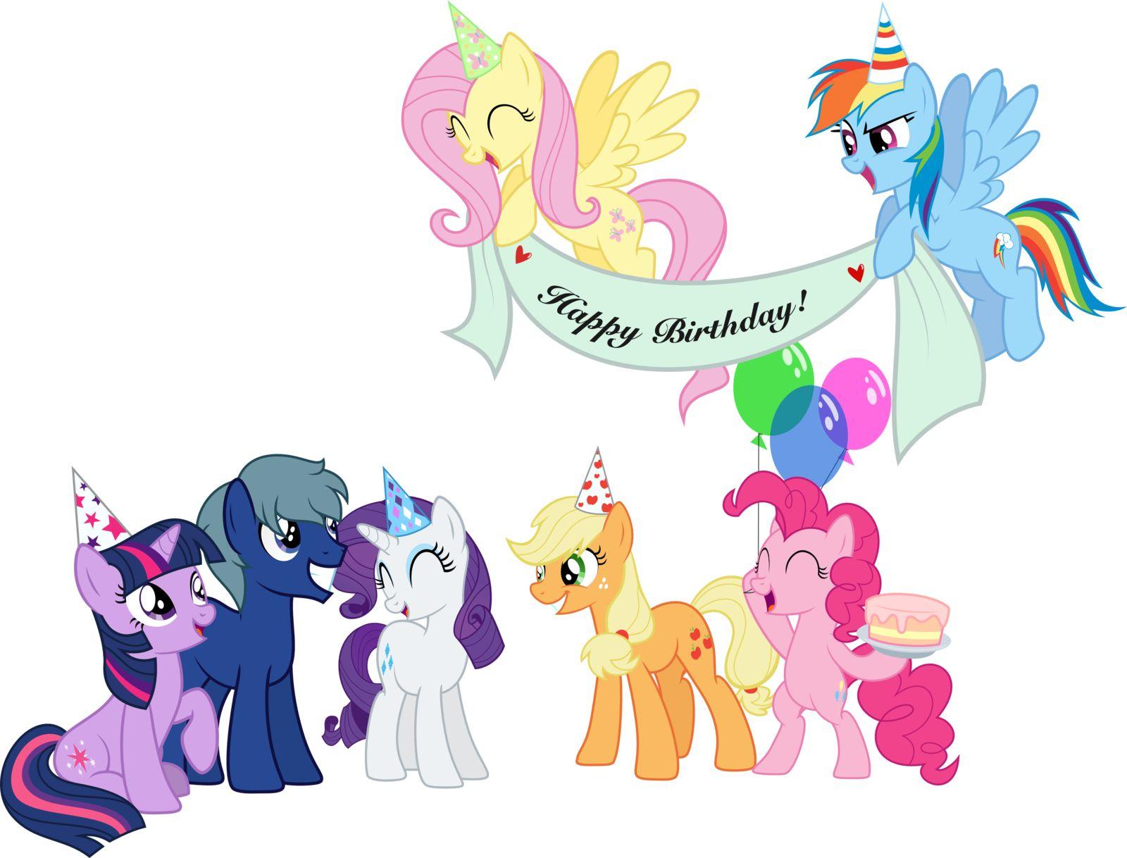 Image From Http Fc06 Deviantart Net Fs70 I 2013 167 D 6 Happy Birthday By Thedarkestdaydream D699f5h P My Little Pony Party Little Pony Party Happy Birthday