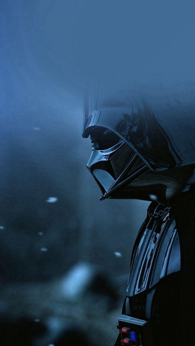 Starwars Darth Vader Art Film Blue iPhone 5s wallpaper