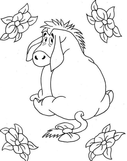 Printables Eeyore And Flowers Coloring Page For Kids Disney Coloring Pages Cartoon Coloring Pages Toddler Coloring Book