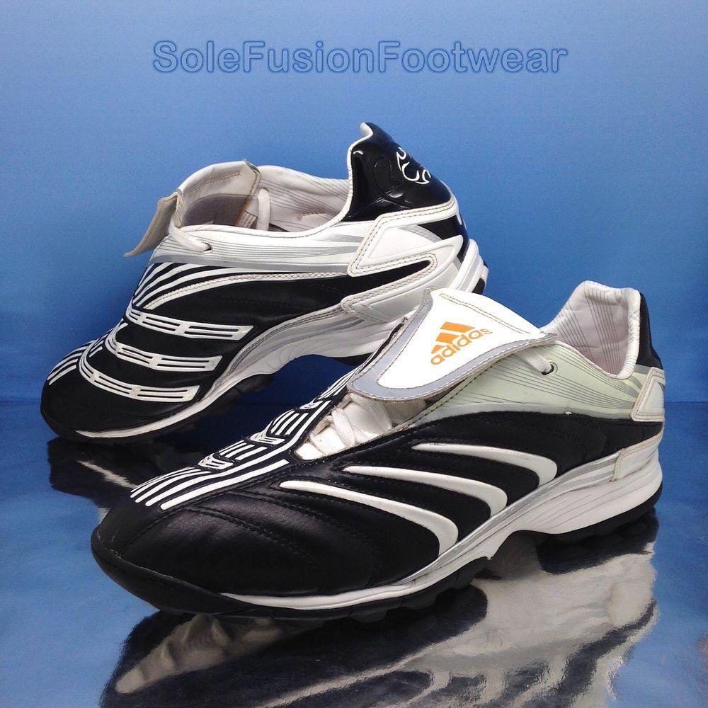adidas mens predatore football formatori nero sz 9 trx scarpe ue 43