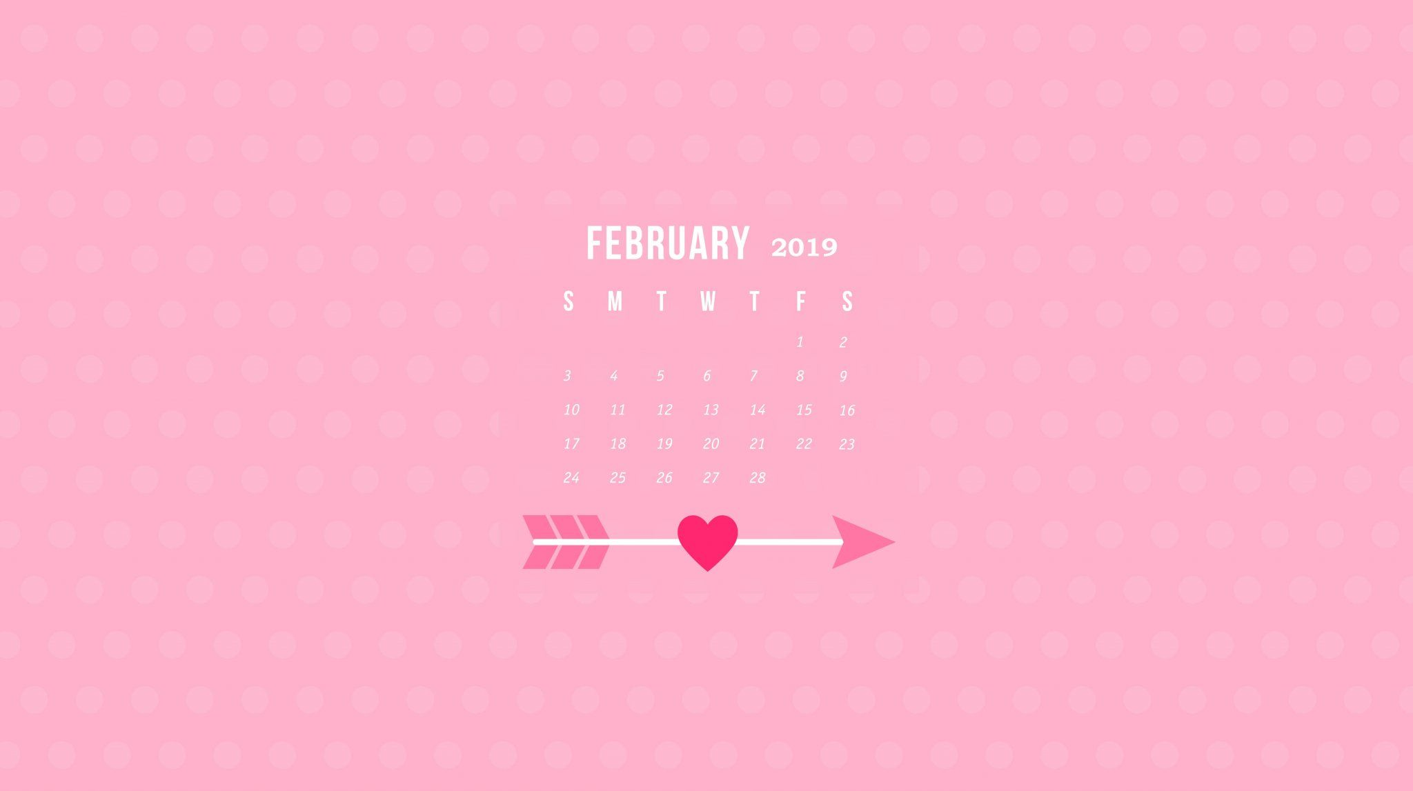 February Wallpaper Calendar 2019 February 2019 Calendar Wallpapers #February2019