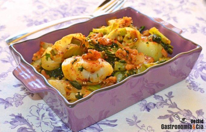 Pak choi con nueces recipe spanish language plato and salsa forumfinder Gallery