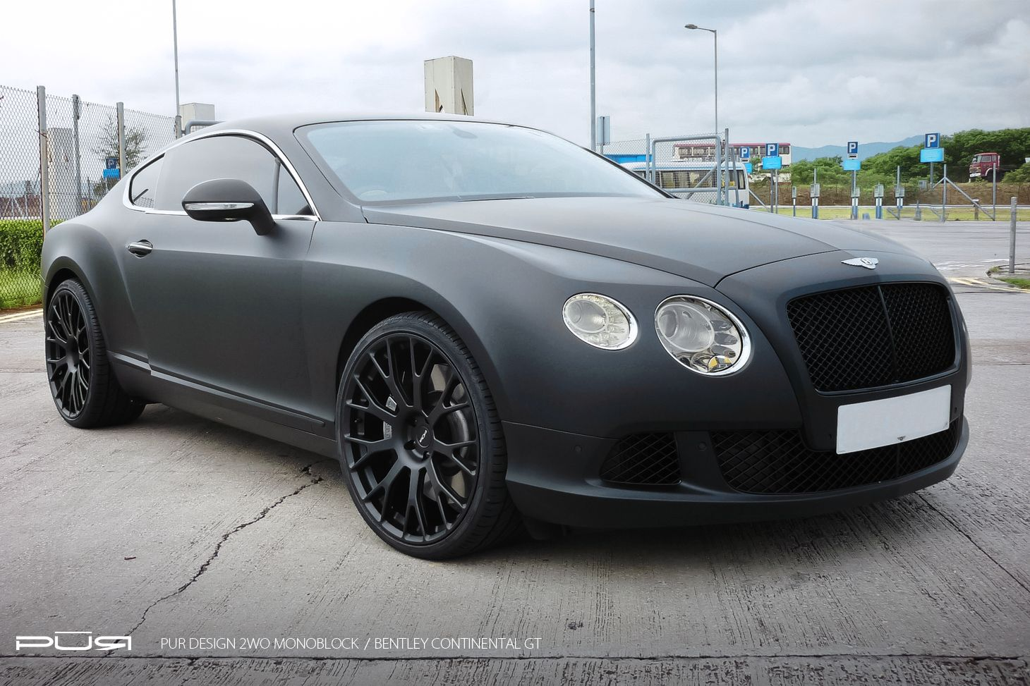 Bentley continental gt in matte black rides on pur wheels photo bentley continental gt in matte black rides on pur wheels vanachro Choice Image