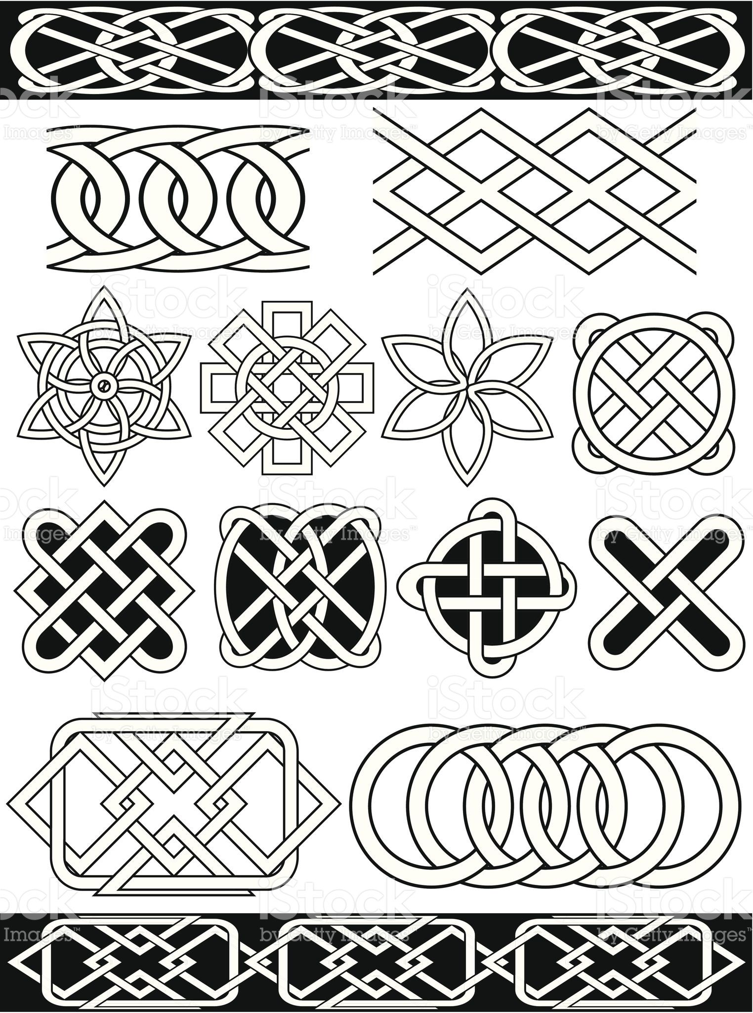 Set - vector celtic patterns royalty-free stock vector art | Mønster ...