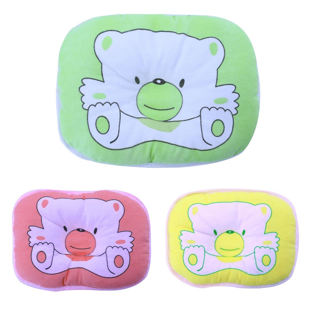 pc high quality newborns infant soft neck support print bear head
