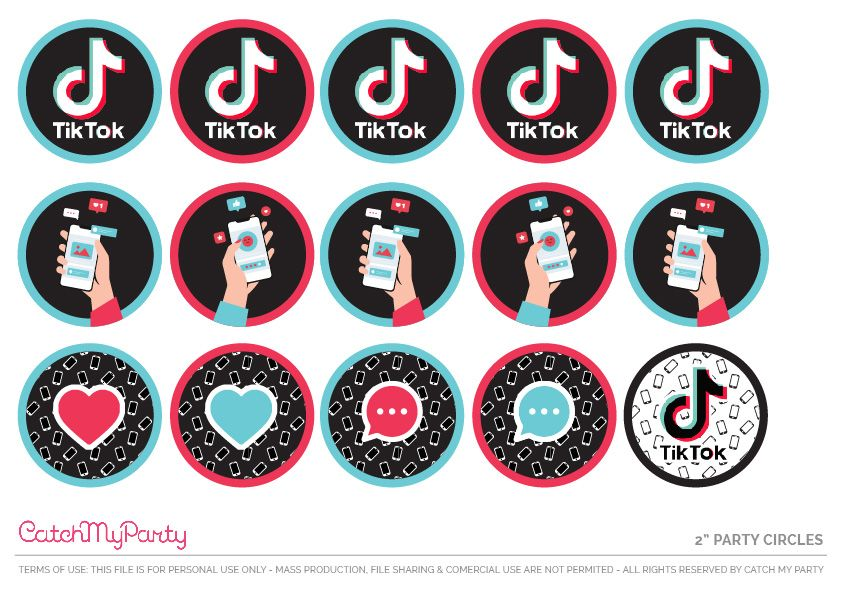 Download These Fun Free Tiktok Party Printables Catch My Party Birthday Party Printables Free Party Printables Free Party Printables