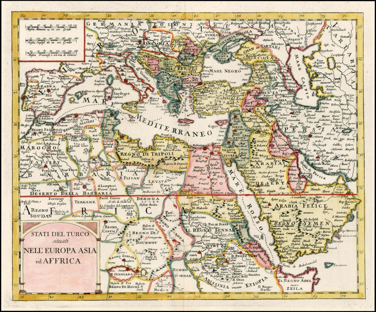 large map fine art print Ancient map of Turkish Empire oversize map print 1606 rare map fine reproduction