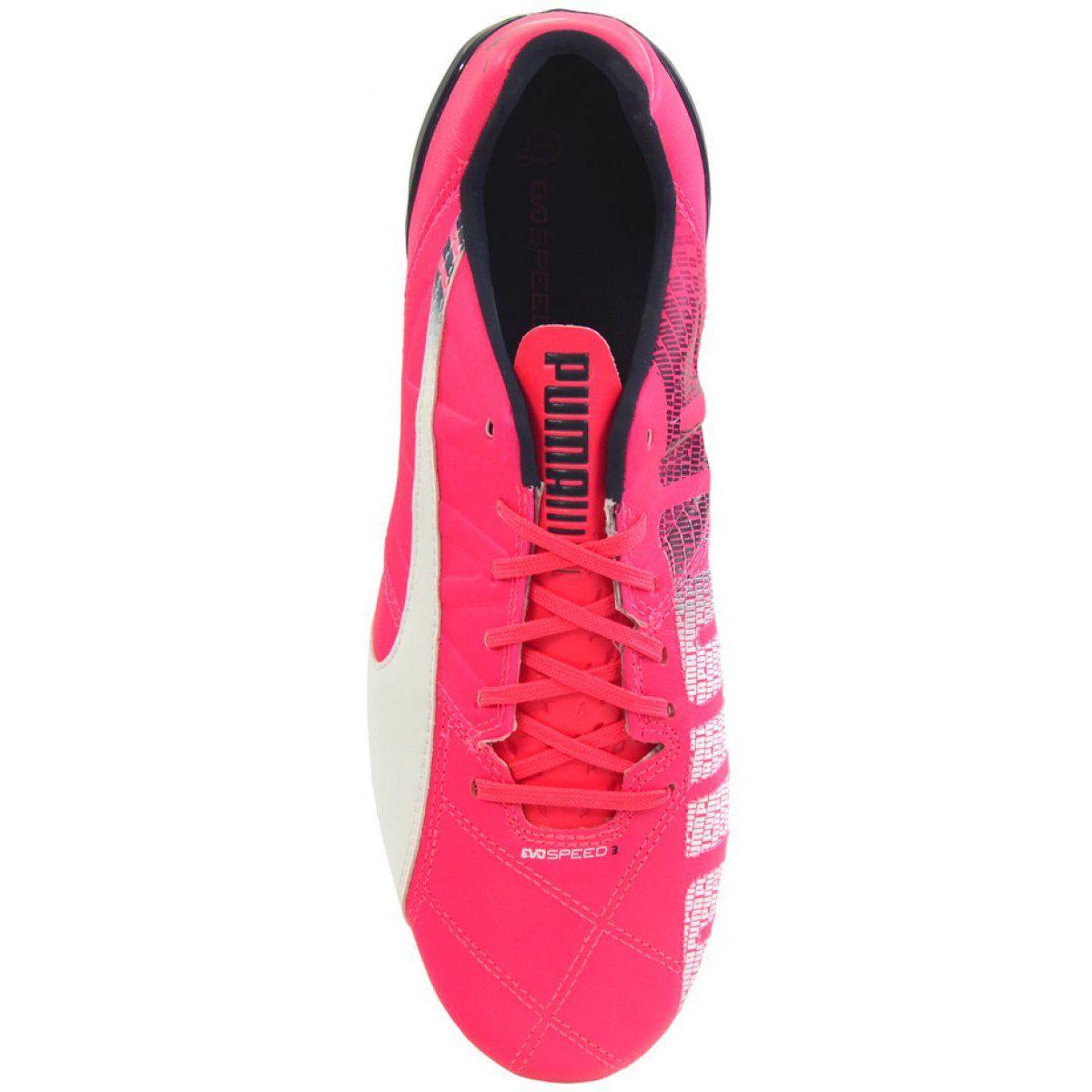 Buty Pilkarskie Puma Evo Speed 3 3 Fg M 103014 03 Rozowe Rozowe Puma Sport Shoes Shoes
