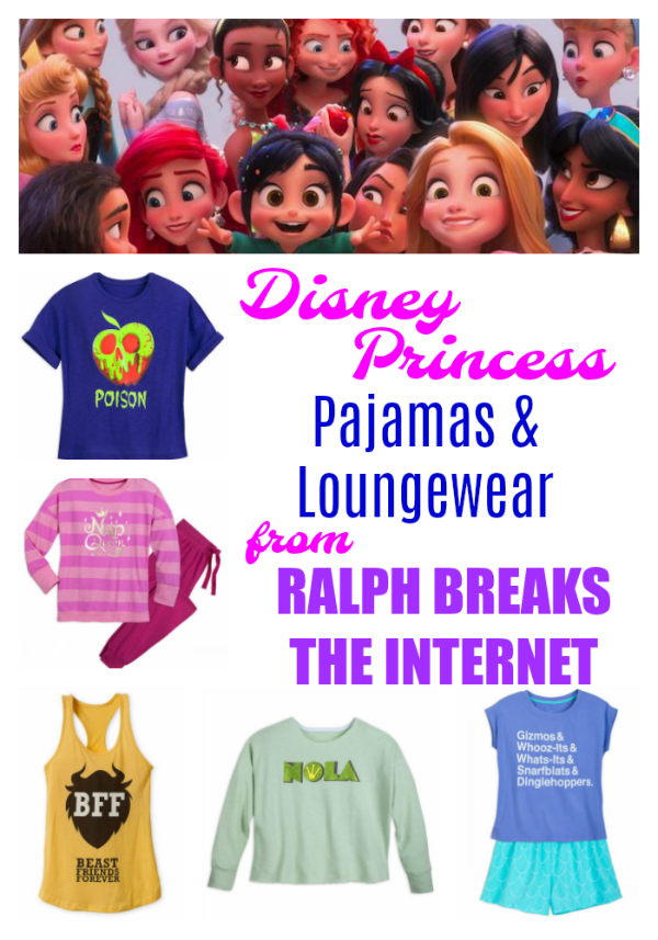 With Real Life Versions Of The Disney Princess Pajamas And Loungewear From Ralph Breaks Th Disney Princess Outfits Funny Disney Shirts Disney Princess Shirts