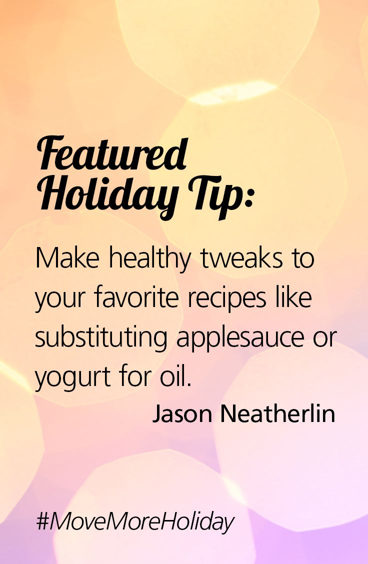 Thanks to Jason for providing a tip on how to stay healthy for ...