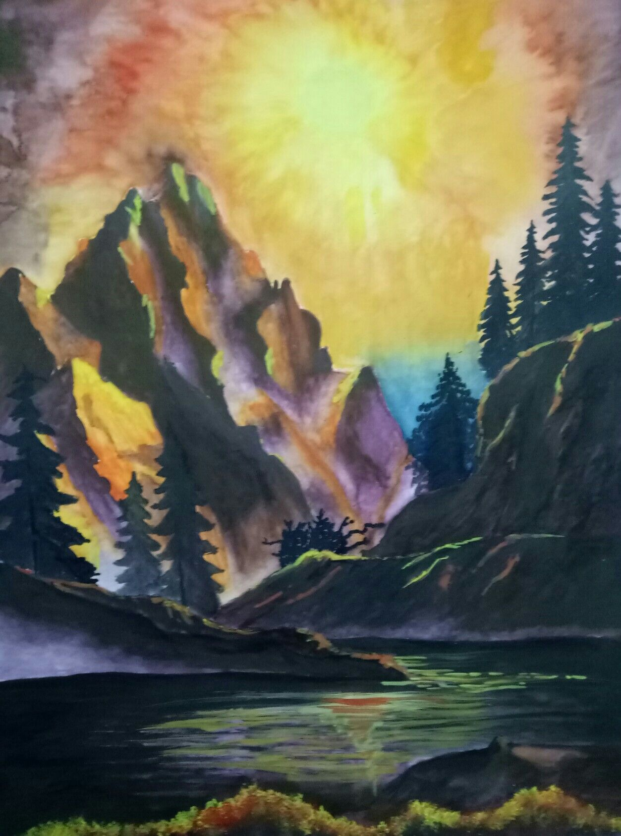 Landscape painting made by me