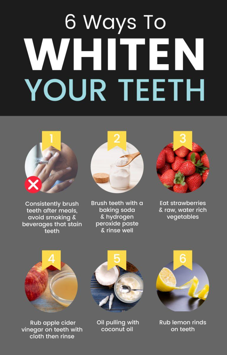 6 Ways to Naturally Whiten Your Teeth #howtowhitenyourteeth
