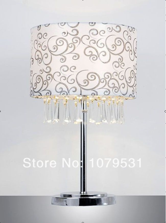 Modern size cloth lamp shade crystal pendant desk lightmodern crystal lamp shades for table lampsresidential lighting