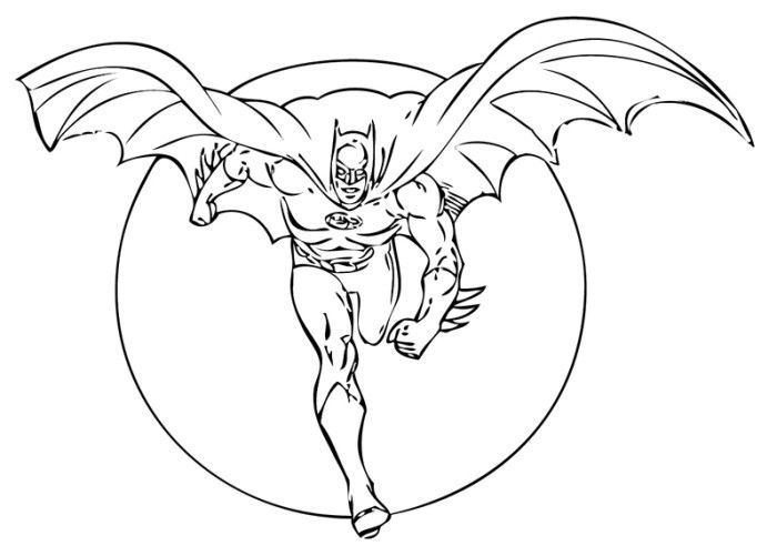 Batman In The Night Coloring Pages Batman Coloring Pages Superhero Coloring Batman Pictures