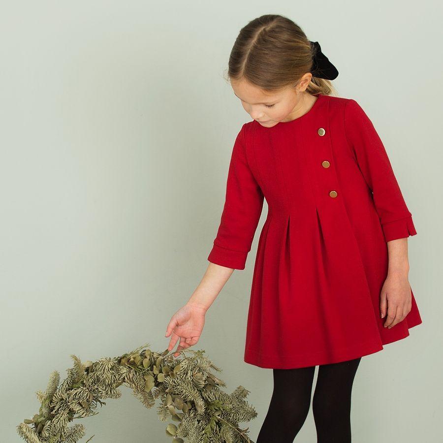 Conjunto De Vestido Rojo Pili Carrera Para Niña Vestidos