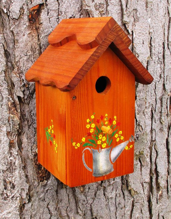 b66dca5951996aed6732ed481ea694e5 Painted Bird House Watering Can Shape Designs on soda can bird house, clay pot bird house, beehive bird house, flower pot bird house, terra cotta pot bird house,