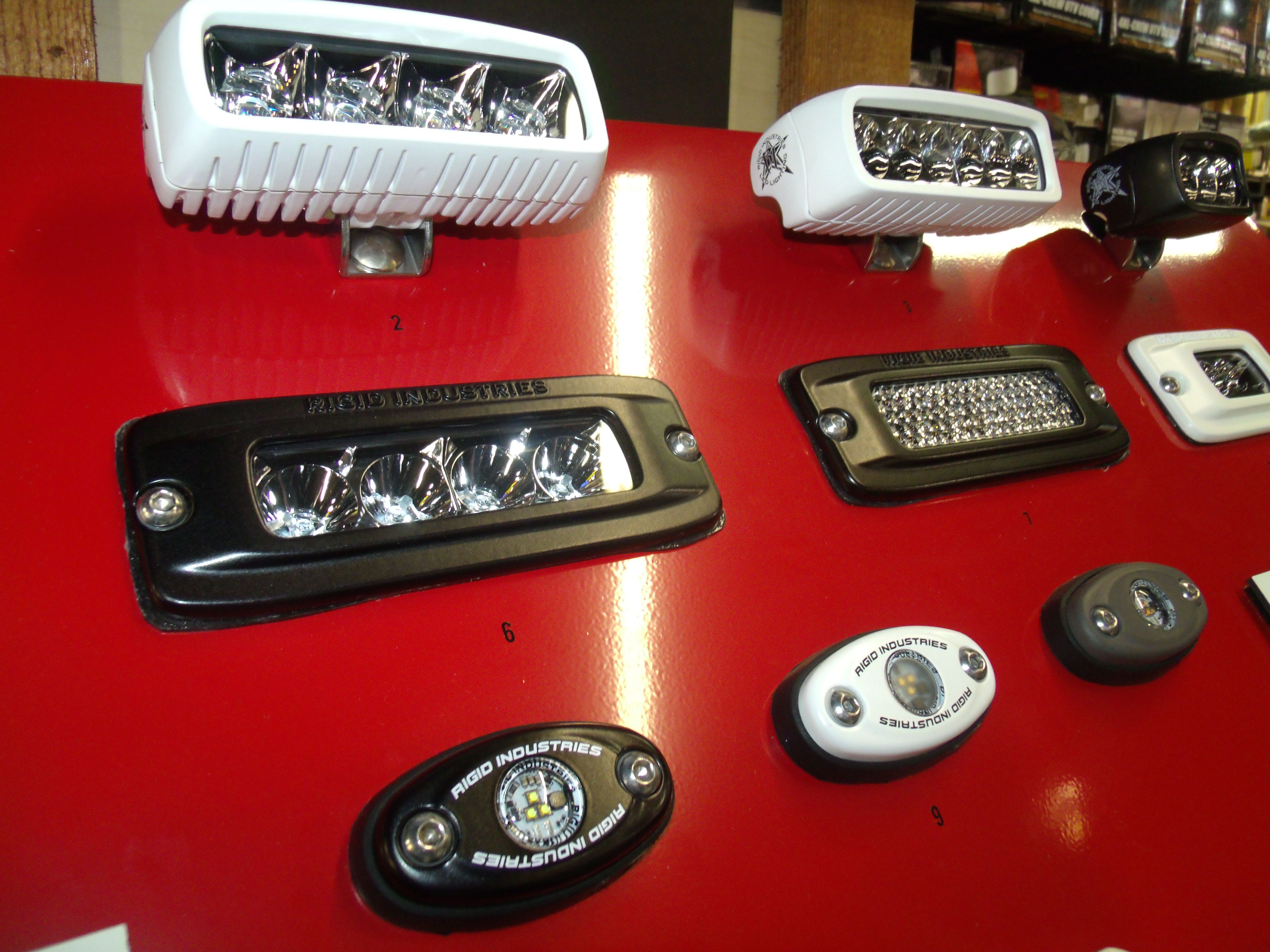 Rigid industries led lighting display at woods cycle country in new braunfels tx