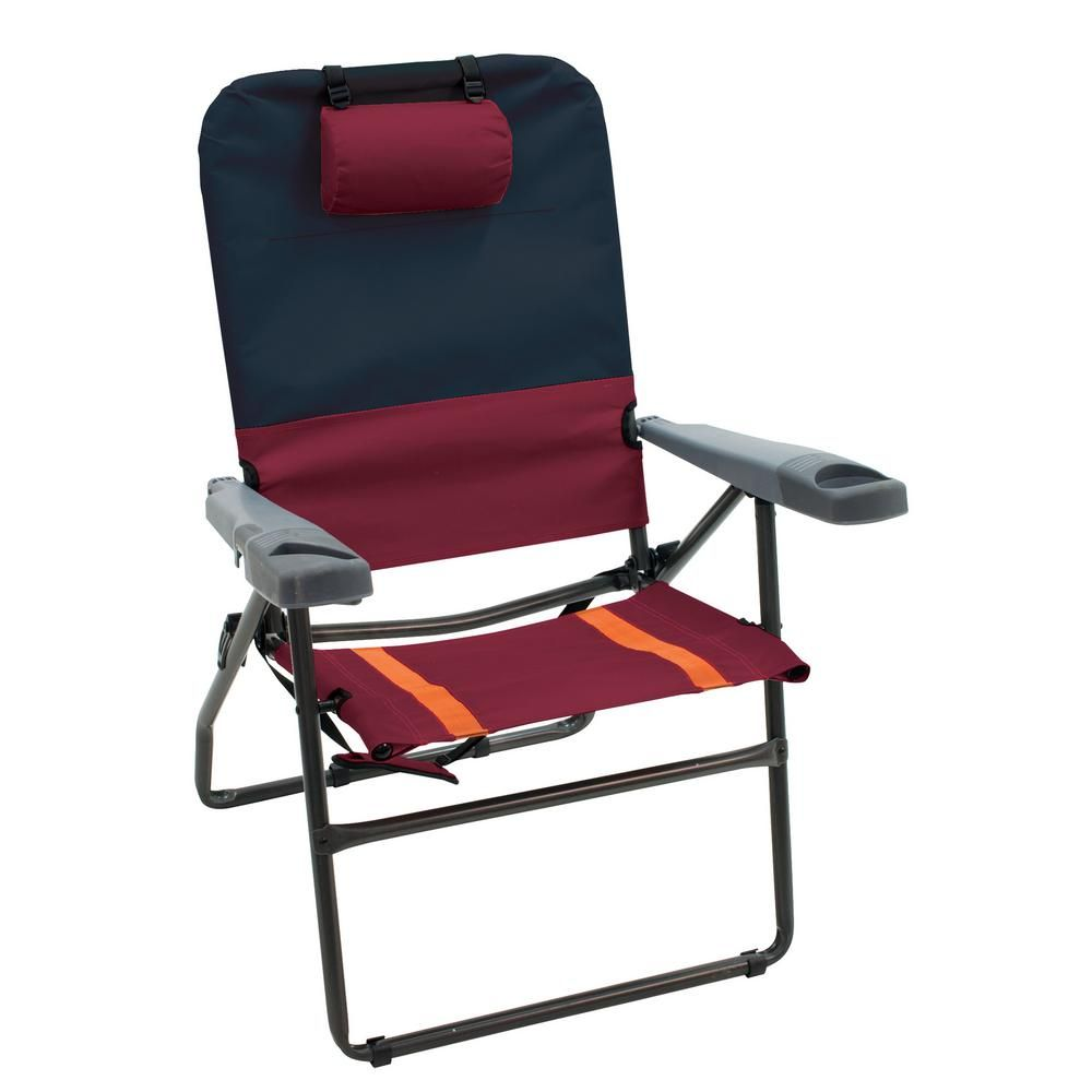 Rio Steel 4 Position Suspension Folding Lawn Chair With Bottle
