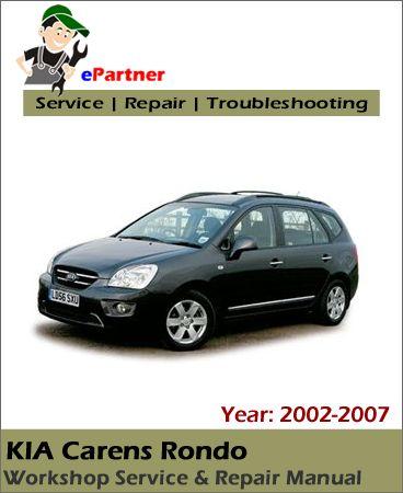 Kia Carens Rondo Service Repair Manual 2002 2007 Repair Manuals