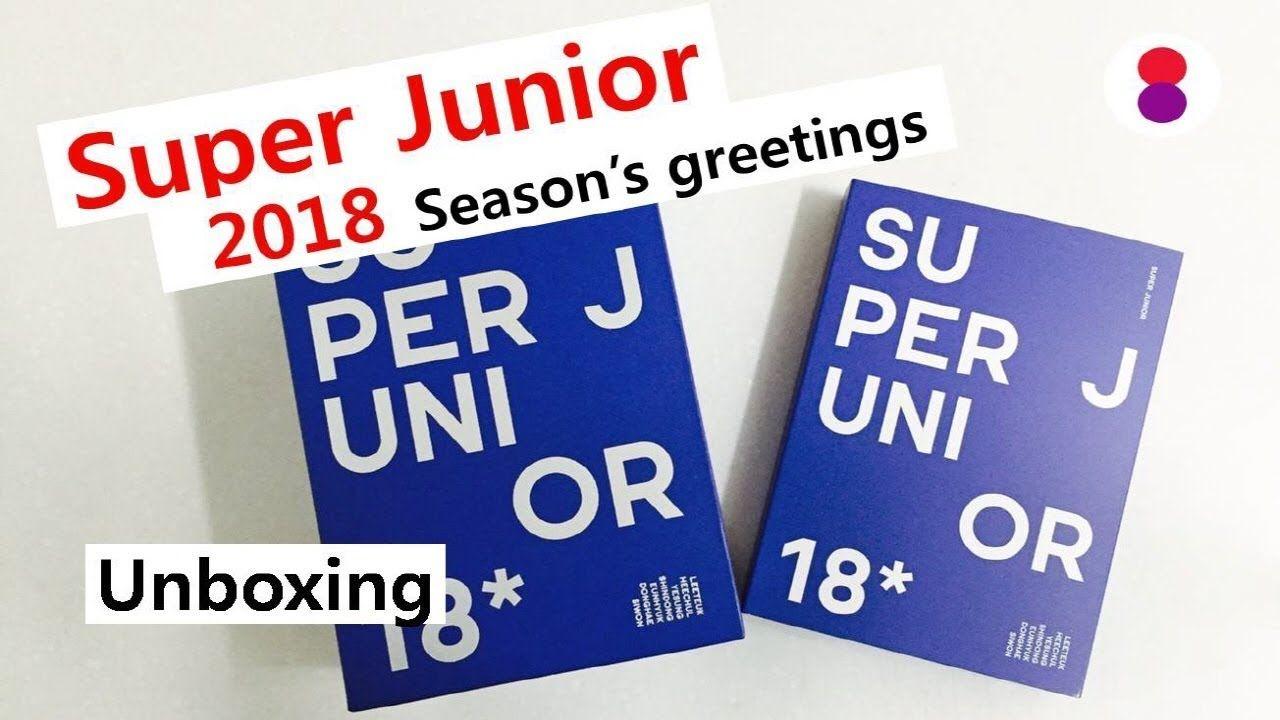 Super junior 2018 seasons greetings unboxing super junior 2018 seasons greetings unboxing m4hsunfo