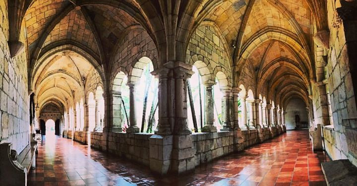 A 12th century Spanish monastery cloister which was deconsecrated in the 1830s. It was bought by an American media mogul and transported brick by brick (all 35000 of them) back to the USA in the 1920s. They then lost the plan it took 19 months to put the puzzle back together again.