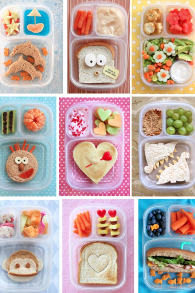 School lunch bento box style! Flowers, sandwich, beach, valentines, hearts, dinosaurs, zoo, monkey #bentoboxlunch